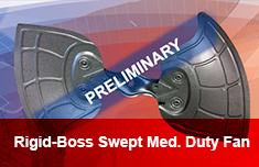 Rigid-Boss Swept Medium Duty Fan